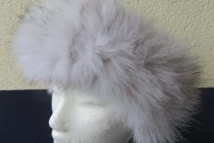 Pelz-Stirnband Blaufuchs