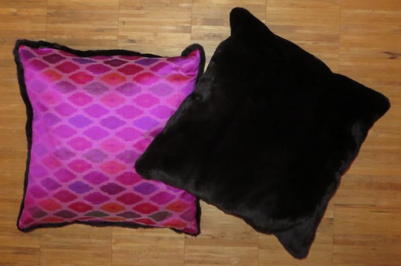 Samtnerz-Kissen pink