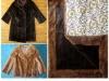 Nerzmurmel-Mantel und Nerz-Jacke werden Decke